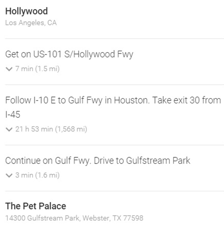 Directions from Hollywood